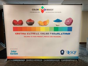 Colormaker trade show display - natural products marketing agency work sample